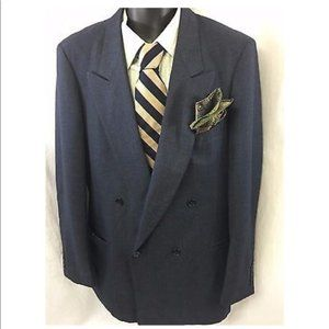 Hardy Amies Pinstripe Double Breasted Sport Coat